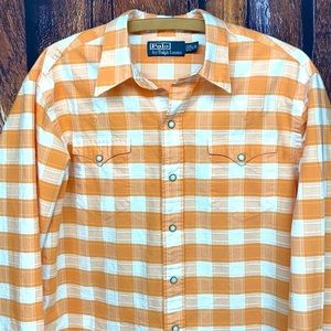 Polo Ralph Lauren western shirt pearl snaps large